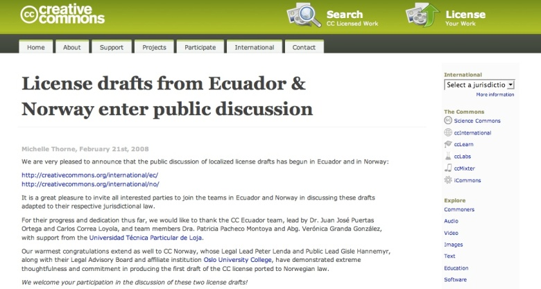 License drafts from Ecuador And Norway enter public discussion
